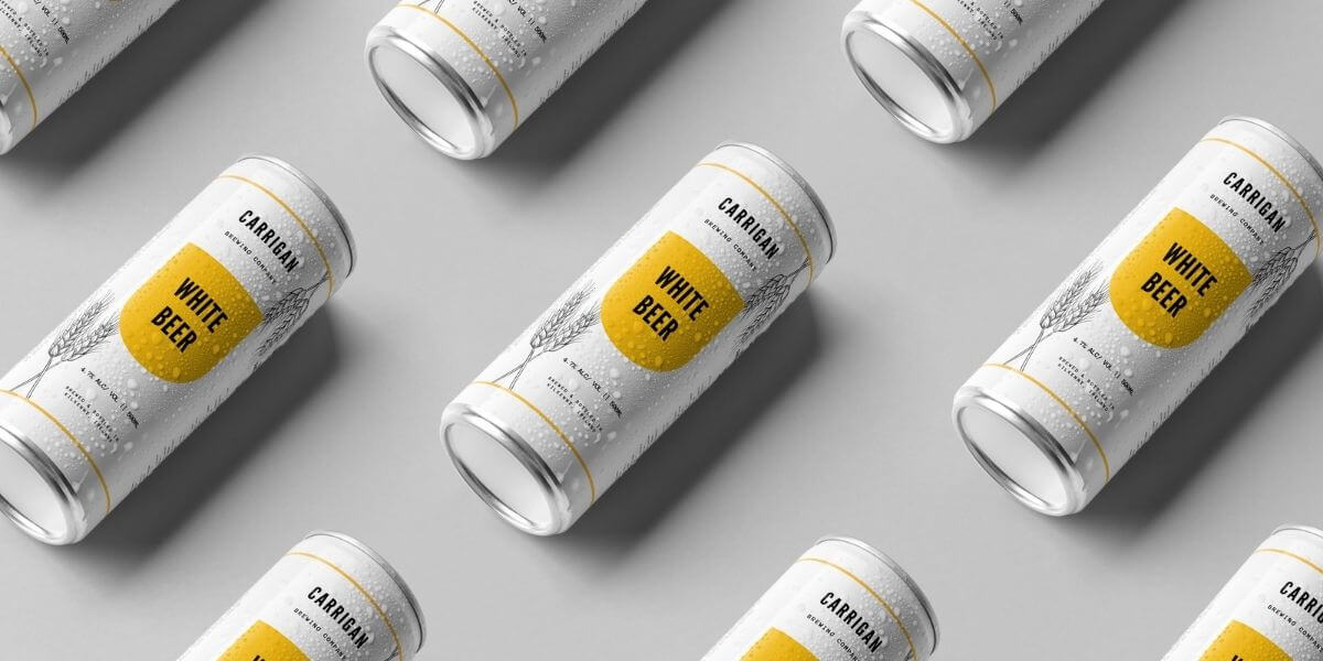 Branding Portfolio - White Beer for Carrigan Brewing Company - Finnix Solutions
