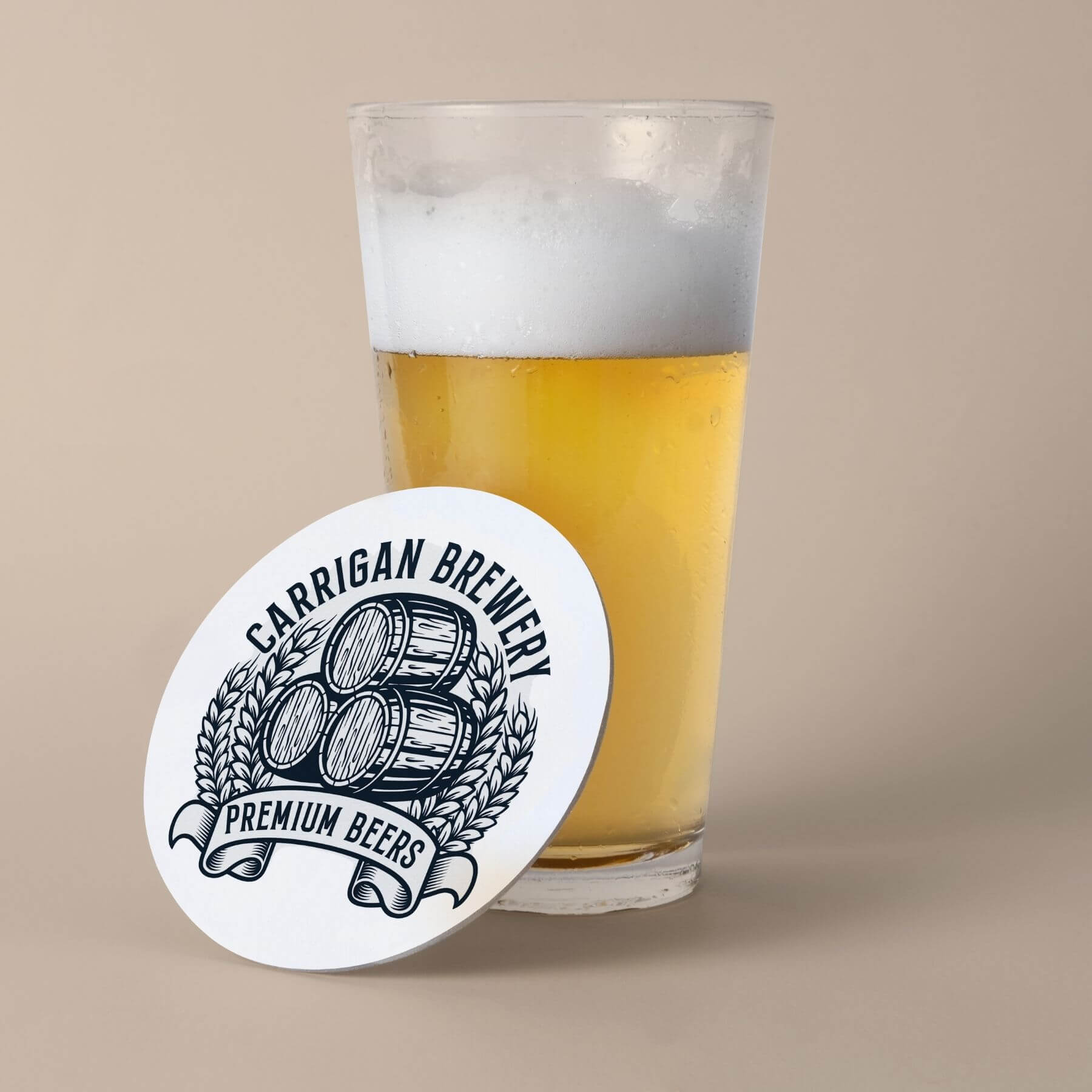 Carrigan Brewery - Carrigan Brewing Company Coaster Designed by Finnix Solutions