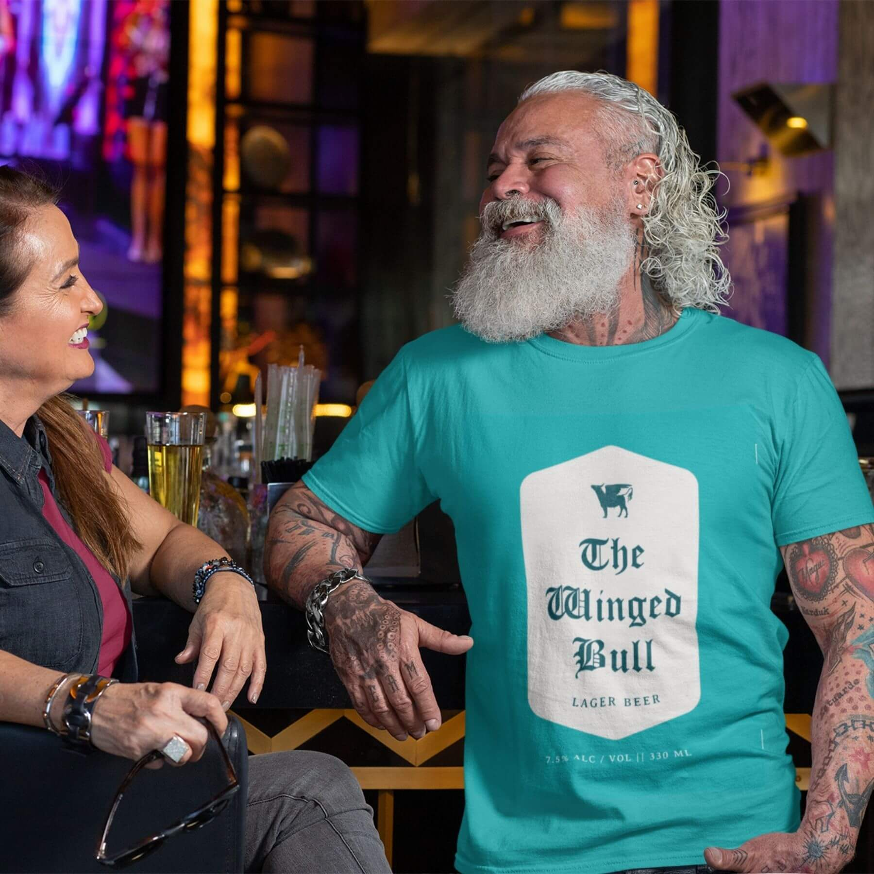 The Winged Bull Tshirt Merch Designed by Finnix Solutions
