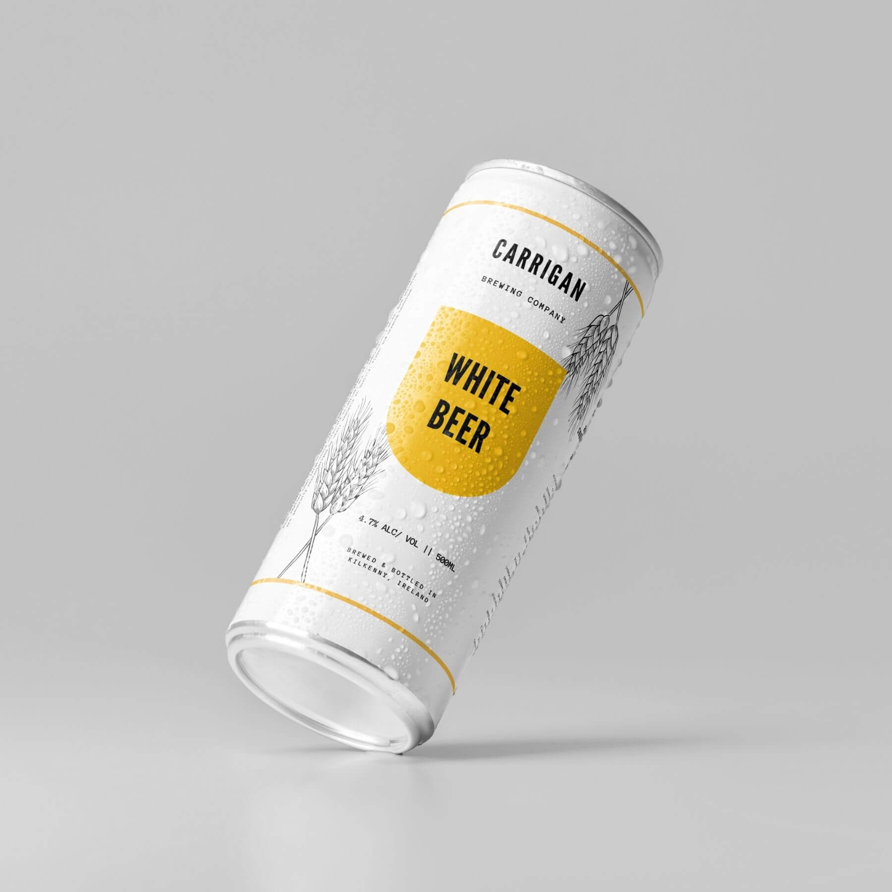 White Beer Can Bottle branding and Packaging Designed by Finnix Solutions