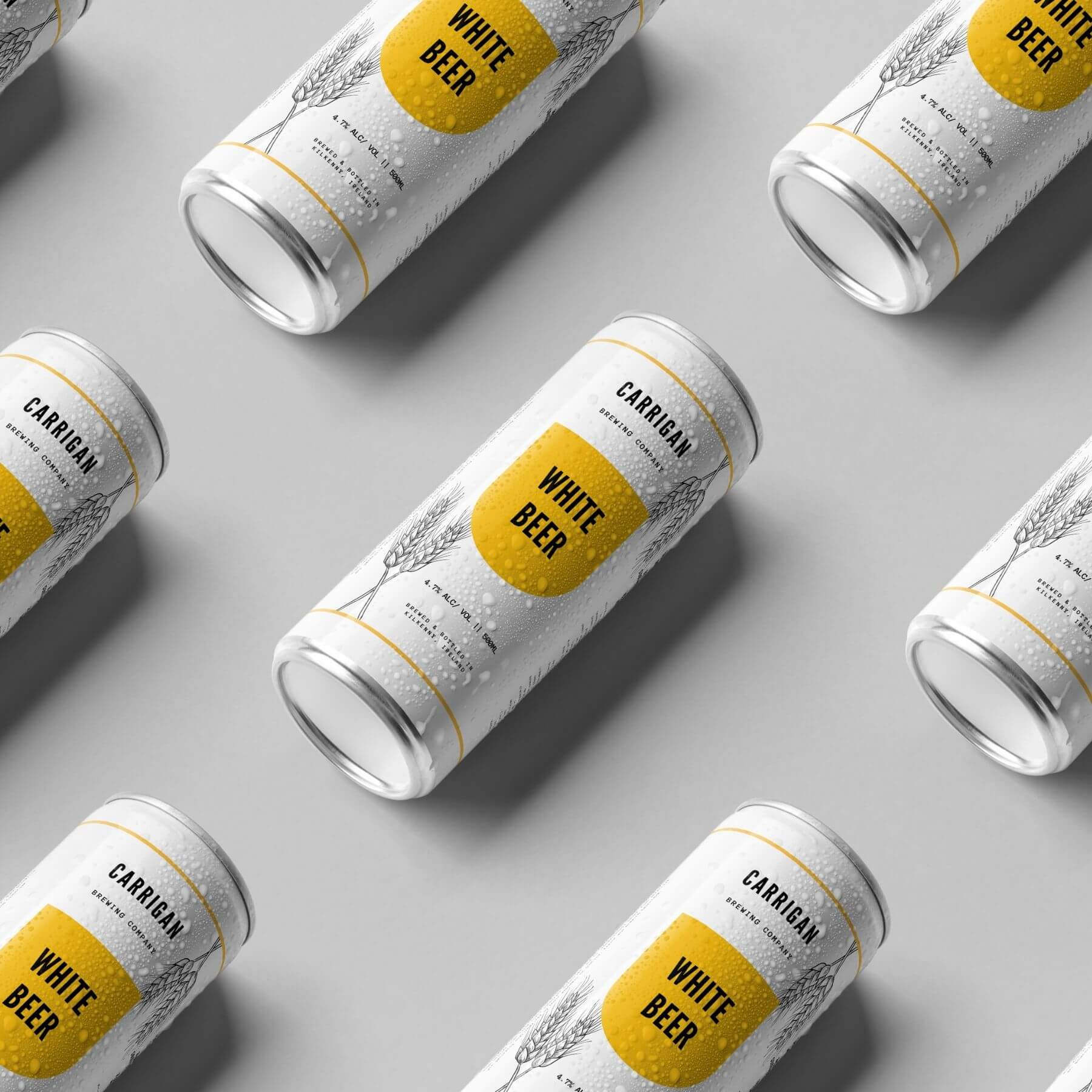 White Beer Packaging Designed by Finnix Solutions